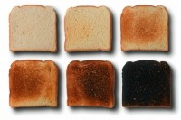 Acrylamide is formed in starchy foods during heating