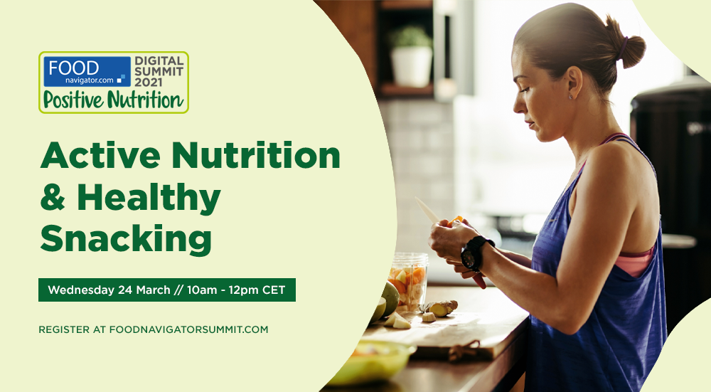 FREE BROADCAST EVENT: Hear the European Snacks Association, Mars Edge and more discuss active nutrition and healthy snacking